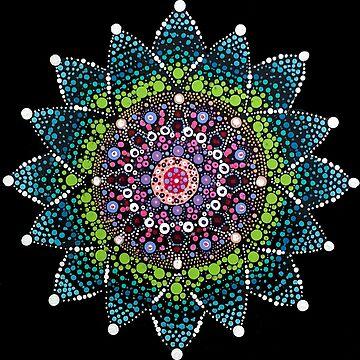 Vibrant Wabi-Sabi Life - Buddhist Mandala by rebeccagalardo