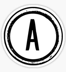 Letter A Stamp Sticker