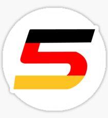 Sebastian Vettel Number 5 German Sticker