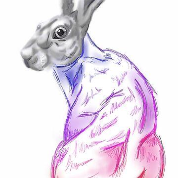 Rainbow Hare by GreenTeacup