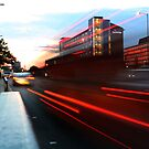 Light-Trails on Queen's Road by Ruski