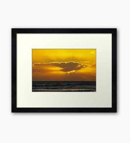 Yellow Sunset Framed Print