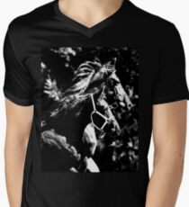 Friesian Foal with Mare Men's V-Neck T-Shirt