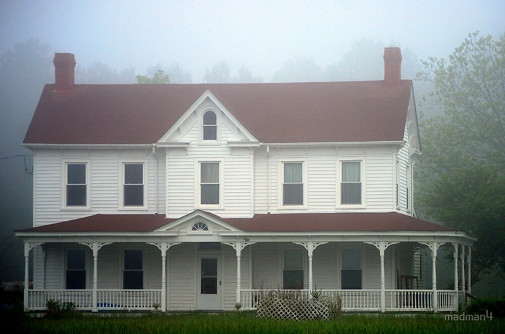 Restored Victorian House In The Fog by madman4