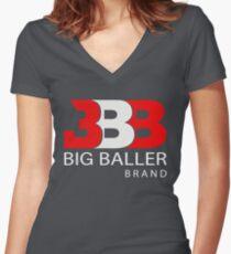 big baller brand Women's Fitted V-Neck T-Shirt