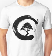 Bonsai Tree in Enso Circle - Buddhist Zen Calligraphy Shirt Unisex T-Shirt