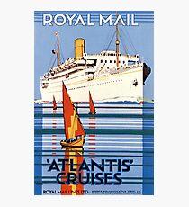 Vintage Royal Mail Atlantis Cruises Photographic Print