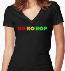 EXO KOKOBOP Women's Fitted V-Neck T-Shirt