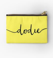 Dodie logo on #fef65b Studio Pouch
