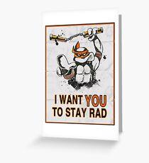 Stay Rad. Greeting Card