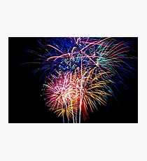 Fireworks 4th of July Finale big bright bold colorful Photographic Print