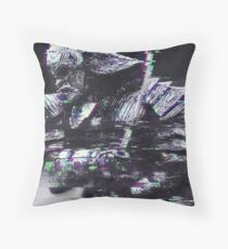 Glitched Samurai Throw Pillow