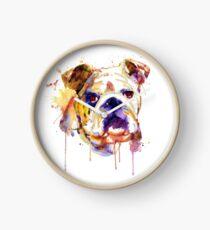 English Bulldog Head Uhr