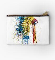 Native American Feather Headdress   Studio Pouch