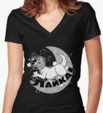 Laika's Journey Women's Fitted V-Neck T-Shirt