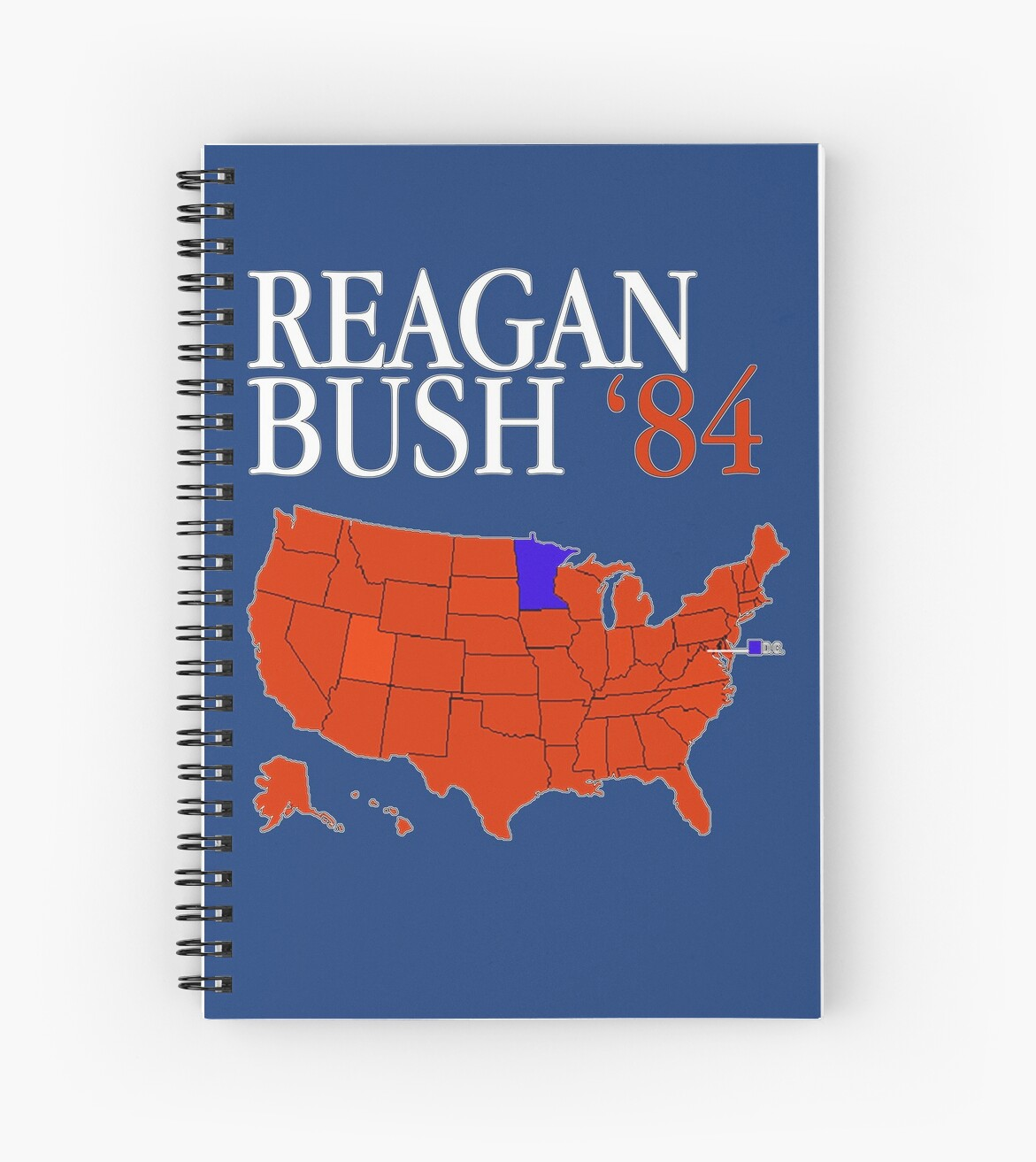 Reagan Bush \'84 Retro Logo Red White Blue Election Map Ronald George ...