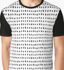 Monochrome Dots and Rows - Seamless Pattern Graphic T-Shirt