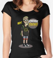 old nirvana fun forever young Women's Fitted Scoop T-Shirt