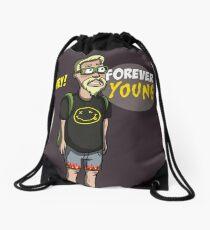 old nirvana fun forever young Drawstring Bag