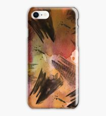 Watercolor Pen and Ink Abstract  iPhone Case/Skin