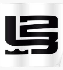 lebron james logo Sticker Poster