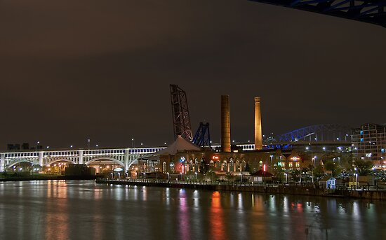 Cuyahoga At Night by MClementReilly