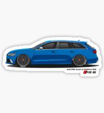 AUDI RS6 Avant in Rotiform BLQ Sticker