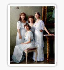 Colorized Romanoff Sisters, circa 1913-14 OTMA Sticker