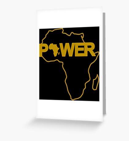Black Power 3.0 Greeting Card