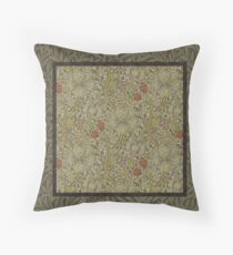 William Morris Floral lily willow art print design Throw Pillow