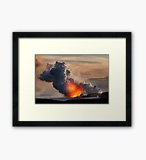 Sunset at Kalapana 3 Framed Print