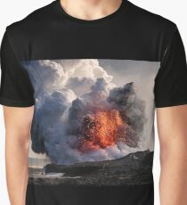 Kilauea Volcano at Kalapana 8 Graphic T-Shirt
