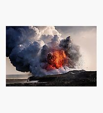 Kilauea Volcano at Kalapana 8 Photographic Print