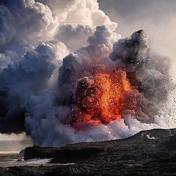 Kilauea Volcano at Kalapana 8 by alex4444