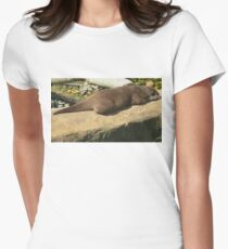 Living Coast, Torquay, Otters, Women's Fitted T-Shirt