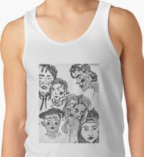 the whole gang in black and white Men's Tank Top