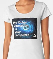 My Other Computer is Your Computer - Hacker Symbol Women's Premium T-Shirt