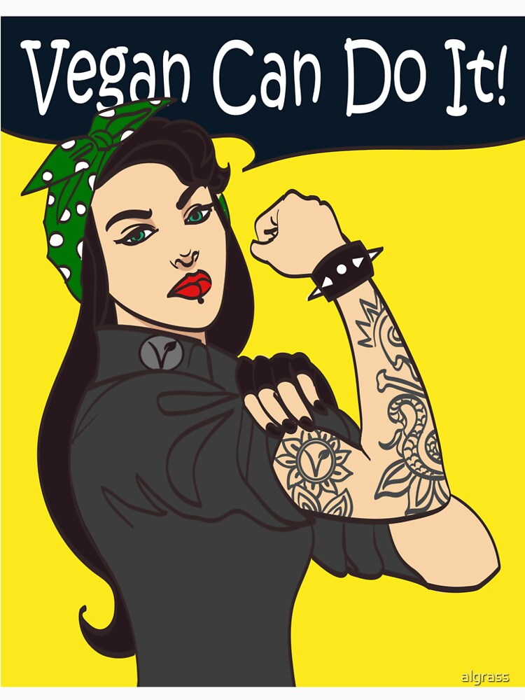 We Can Do It Vegan Iconic Womans Fist Symbol Of Female Power And