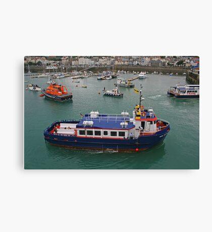 Sark Venture, St Peter Port Harbour Canvas Print