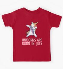 Unicorns are Born in July Dabbing T-Shirt Kids Clothes
