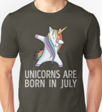 Unicorns are Born in July Dabbing T-Shirt T-Shirt