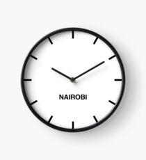 Newsroom Wall Clock Nairobi Time Zone Clock