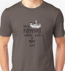 Real Pirates are born in MAY Rxdsj Unisex T-Shirt