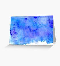 Watercolor Ocean Waves Greeting Card