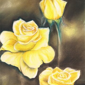 Yellow Roses by artbyjanelucas