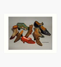 Antique shoes Art Print