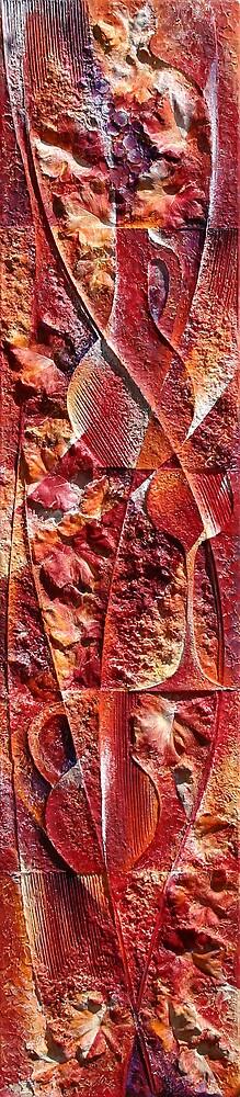tuscani - acrylic / plaster 175 x 38cm by Wheeler