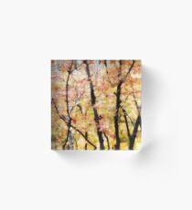 Autumnal Impressions Acrylic Block