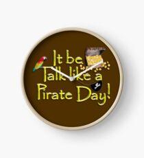 Pirate Talk Text - IT Be Talk Like a Pirate Day! Clock