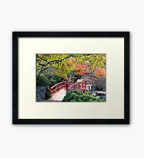 Red Bridge Framed Print
